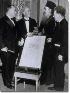 John Mott receiving the Nobel Peace Prize
